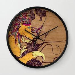 Spirit Happy Fox Wall Clock