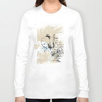 letter Long Sleeve T-shirts featuring Letter by Irmak Akcadogan