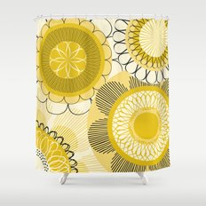 Look at the shining flowers!!! Shower Curtain