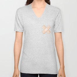 Get Well Bandaid Unisex V-Neck
