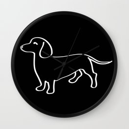 Doxie Love White Wall Clock