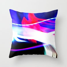 Photo Light Painting Throw Pillow
