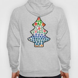 Playful Green Stars and Colorful Circles Pattern Hoody