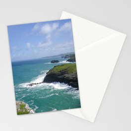 TINTAGEL COAST TO BARRAS NOSE AND CAMBEAK CORNWALL Stationery Cards