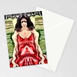 Cubist Woman Stationery Cards