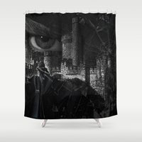 fear Shower Curtains featuring FEAR by Müge Başak