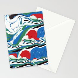 Good Morning Marble Painting Stationery Cards