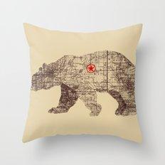 Bearlin Throw Pillow