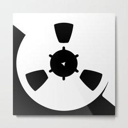 Abstract Reel of Tape Metal Print