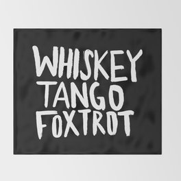 Whiskey Tango Foxtrot x WTF Throw Blanket