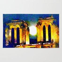 Notre Dame de Paris Full Moon Rug