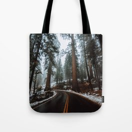 Foggy Forest Wanderlust Tote Bag