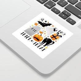 Trick or Treat poster by Julia Gosteva Sticker