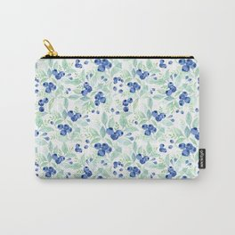 Midsummer - Watercolor Blueberries  Carry-All Pouch