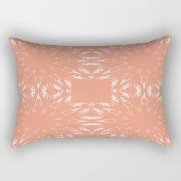 Peach Color Burst Rectangular Pillow