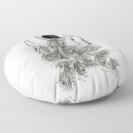 Jungle Peacock Floor Pillow