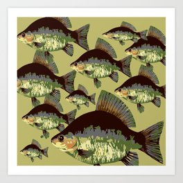 Sun Fish Art Print