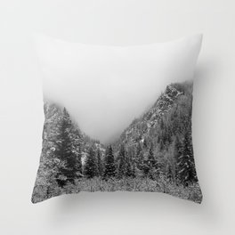 Fog in the Canyon Throw Pillow