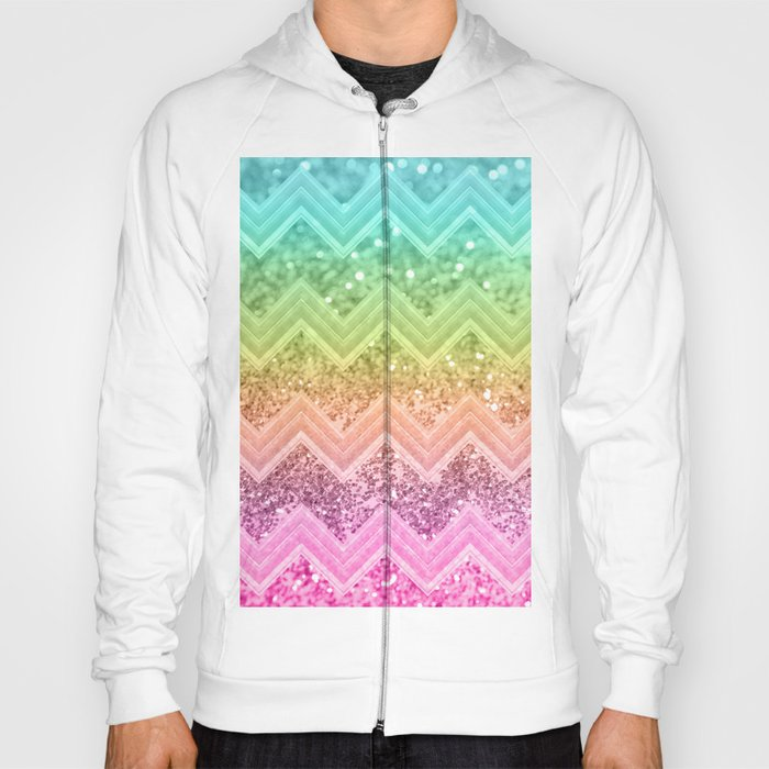 c0c17f2f8c16 Rainbow Glitter Chevron #1 #shiny #decor #art #society6 Hoody by ...
