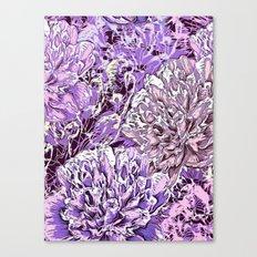 Flowers - blue mood Canvas Print