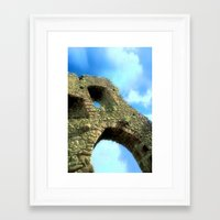castle in the sky Framed Art Prints featuring Castle by Brian Raggatt