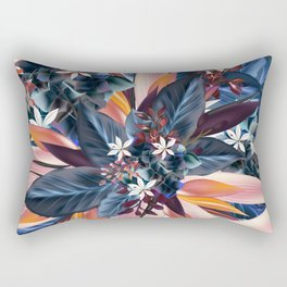 Tropical floral pattern with exotic flowers Rectangular Pillow