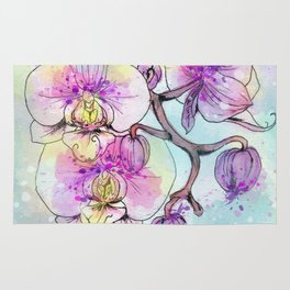 Orchids 05 Rug