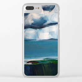 Landscape with clouds Clear iPhone Case