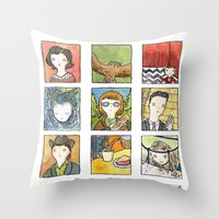 twin peaks Throw Pillows featuring Twin Peaks by Steven Learmonth