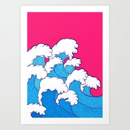 As the waves roll in Art Print