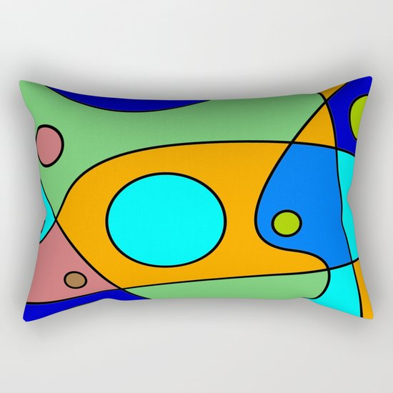 Abstract #72 Rectangular Pillow