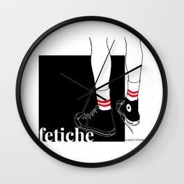 fetiche #1 (black) Wall Clock