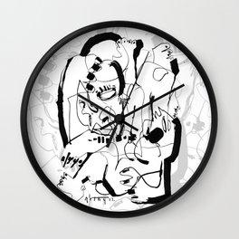 Seduction - b&w Wall Clock