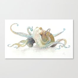 Watercolor Octopus Canvas Print