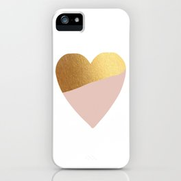 Heart of Gold (and Millennial Pink) iPhone Case