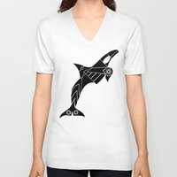 orca V-neck T-shirts featuring Orca by Hinterlund