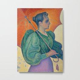 Woman with a Parasol (Femme à l'ombrelle) Metal Print