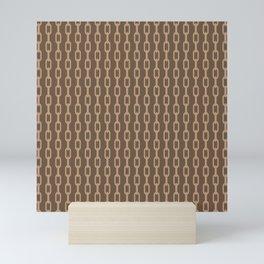 Chainlink No. 1 -- Brown Mini Art Print