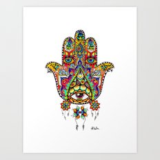 God's Not Dead (Hamsa Hand) Art Print