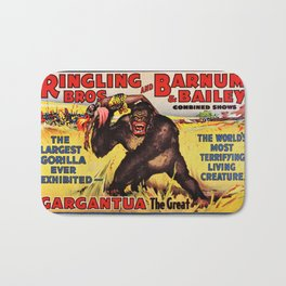 1938 Ringling Brothers and Barnum & Bailey Big Top 'GARGANTUA the Great' Circus Poster Bath Mat