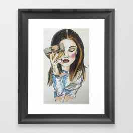 Save water drink wine Framed Art Print