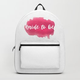 Bride to be - watercolour lettering Backpack