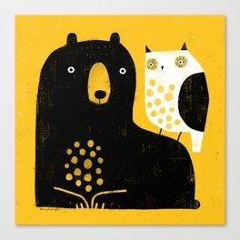 BEAR & OWL Canvas Print