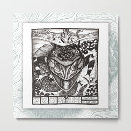 18-25 MONSTER Maptober 2019 Metal Print