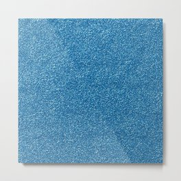 Shiny Glitter, Sparkling Glitter Glow - Blue Metal Print