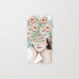 She Wore Flowers in Her Hair Island Dreams Hand & Bath Towel