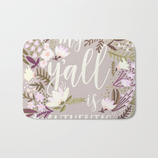 My Y'all is Authentic – Spring Palette Bath Mat