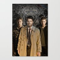 supernatural Canvas Prints featuring Supernatural by SB Art Productions