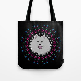 Samoyed Star Stuff Tote Bag