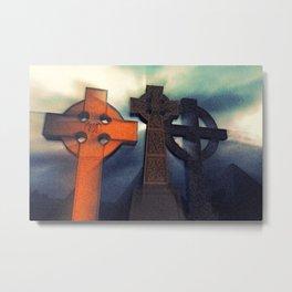 Celtic Cross Myst Metal Print